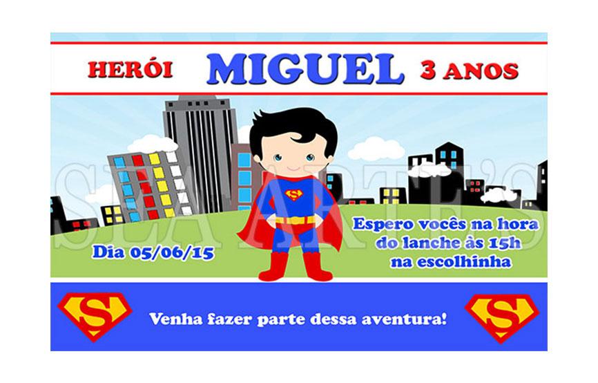 Arte Convite Digital Super Homem No Elo7 Sea Artes 47f6c7