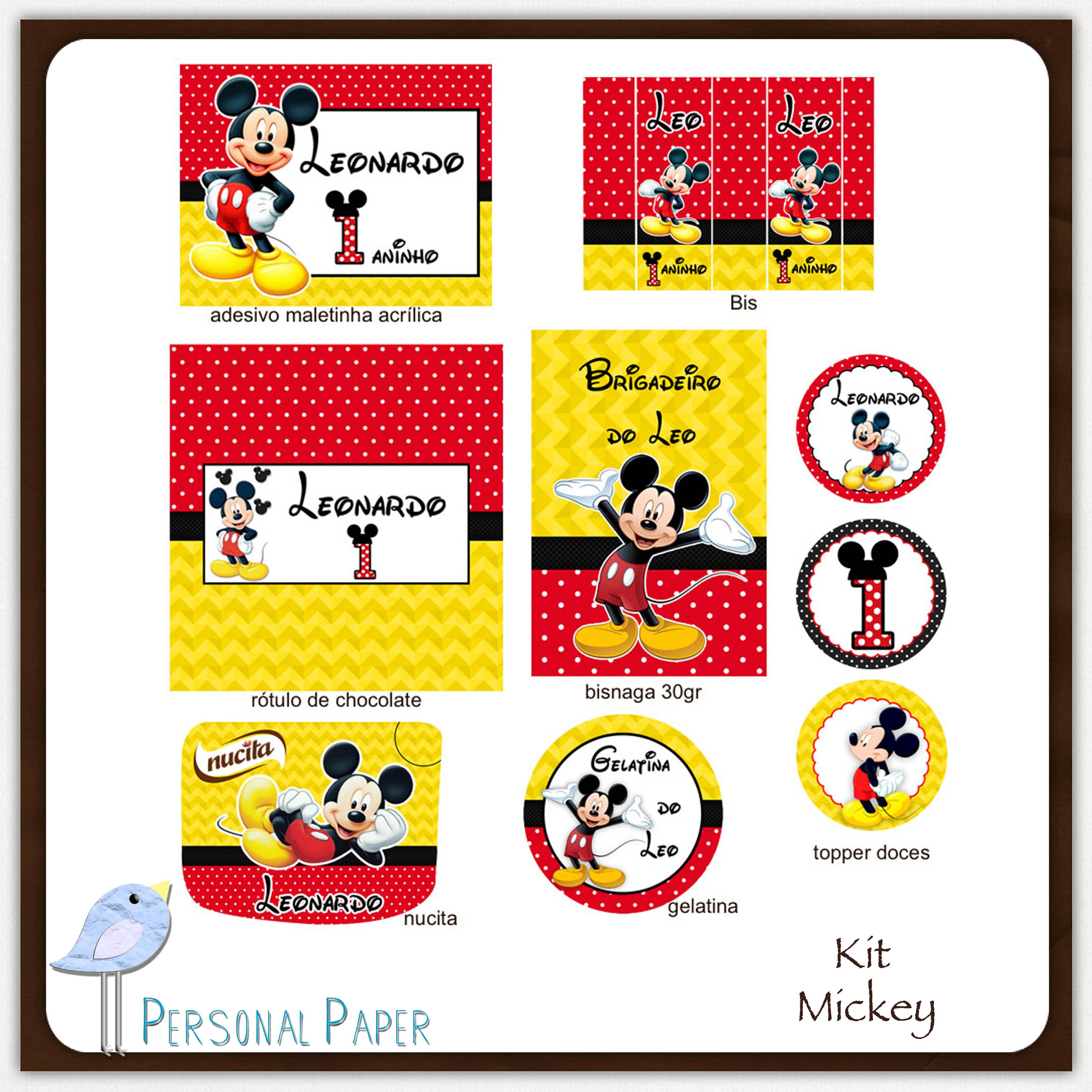 Kit Digital Mickey Para Imprimir No Elo7 Atelier Doces Mimos