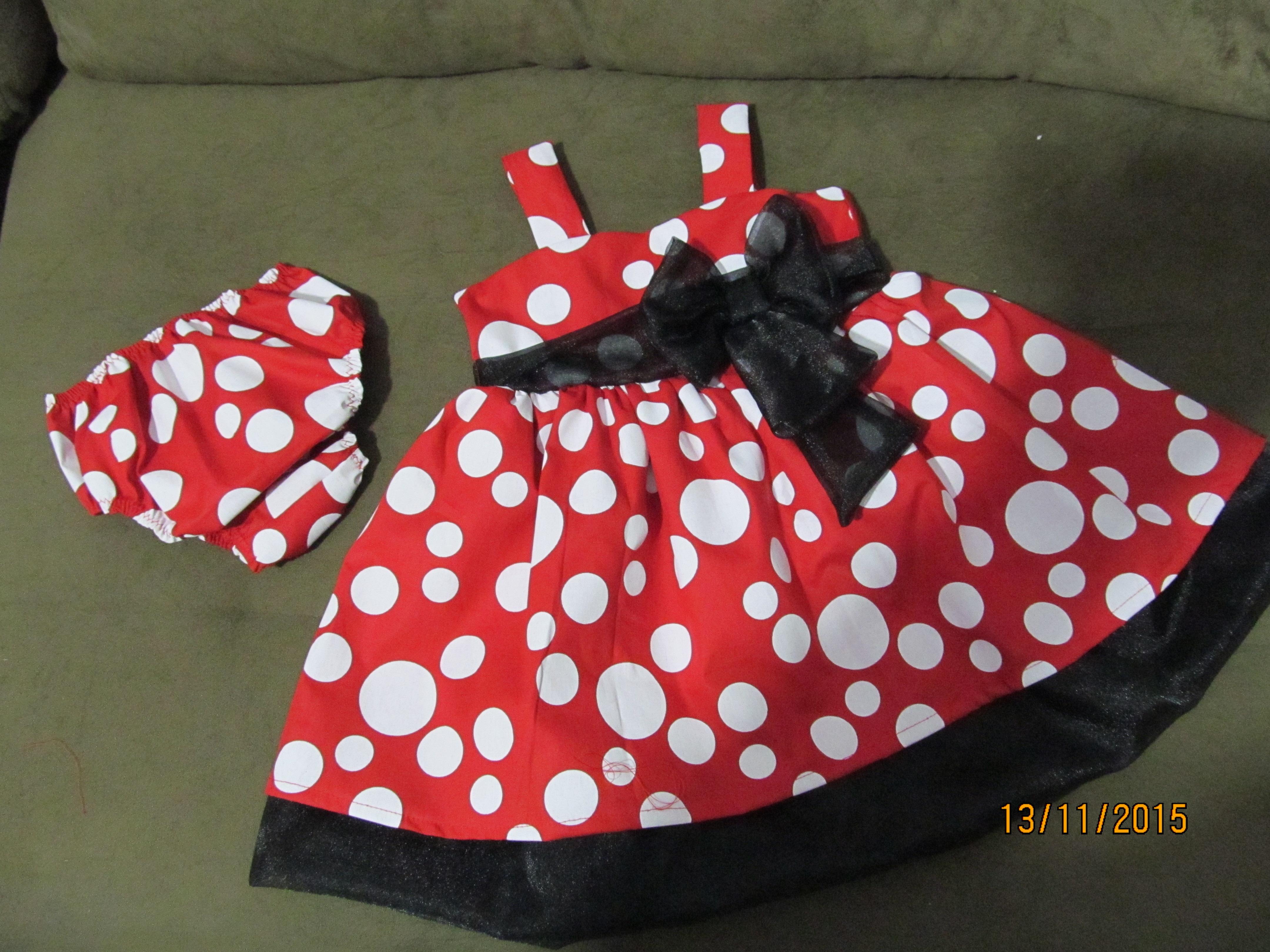 930e0aea70a5c6 Vestido de Bebe Vermelho com Bolinhas | Elo7