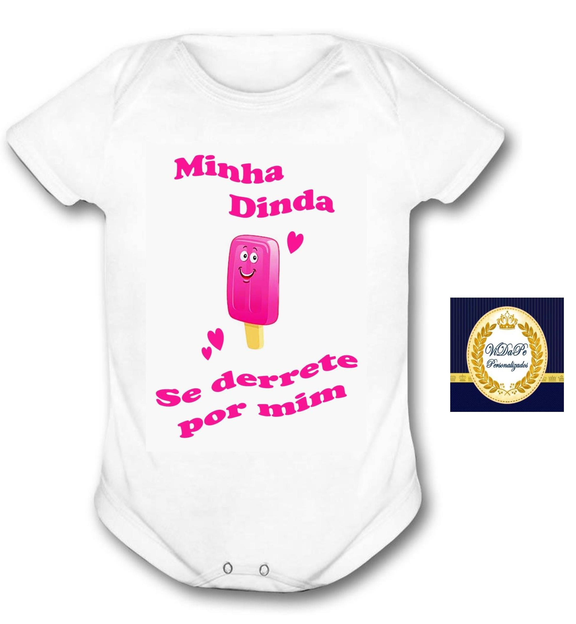 0c4a7a0c98 Body Bebe com Frase Fofa para Dinda Madrinha
