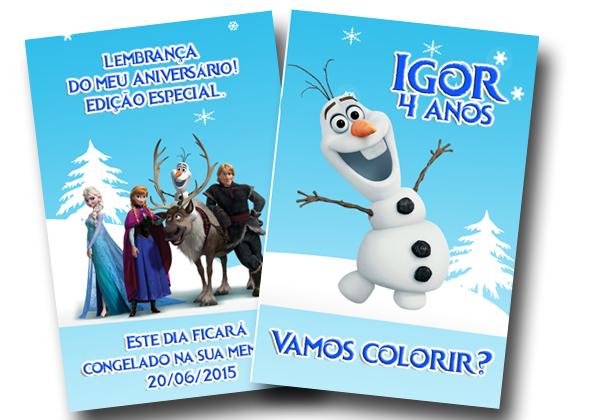 Revista De Colorir Olaf Frozen 14x10 No Elo7 Tudo De Festa