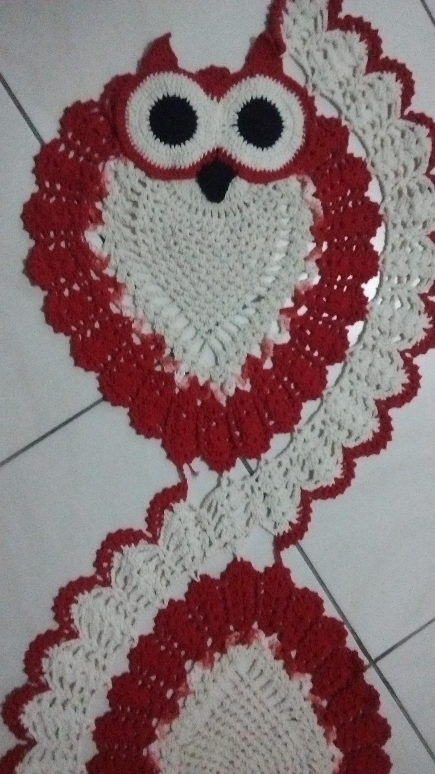 Preferência Passadeira de crochê modelo coruja   CrochêVesguerber   Elo7 PF34