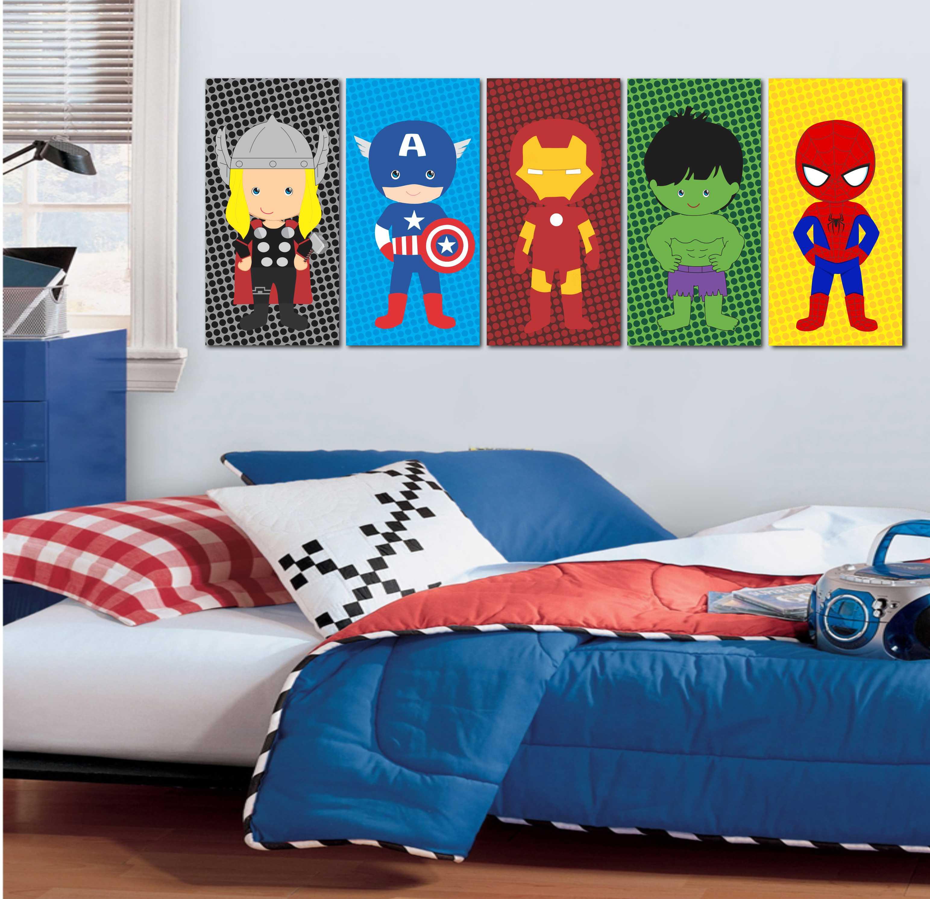 Papel De Parede Quarto Super Herois Redival Com ~ Papel De Parede Para Quarto Infantil Personagens