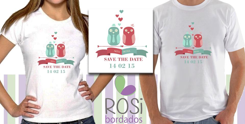 aca074c58d Camisas Casal SAVE THE DATE Corujas no Elo7