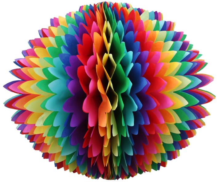 b4d0cbe9c1571 BOLA DE PAPEL de seda balao pompom girotoy diversas cores no Elo7 ...