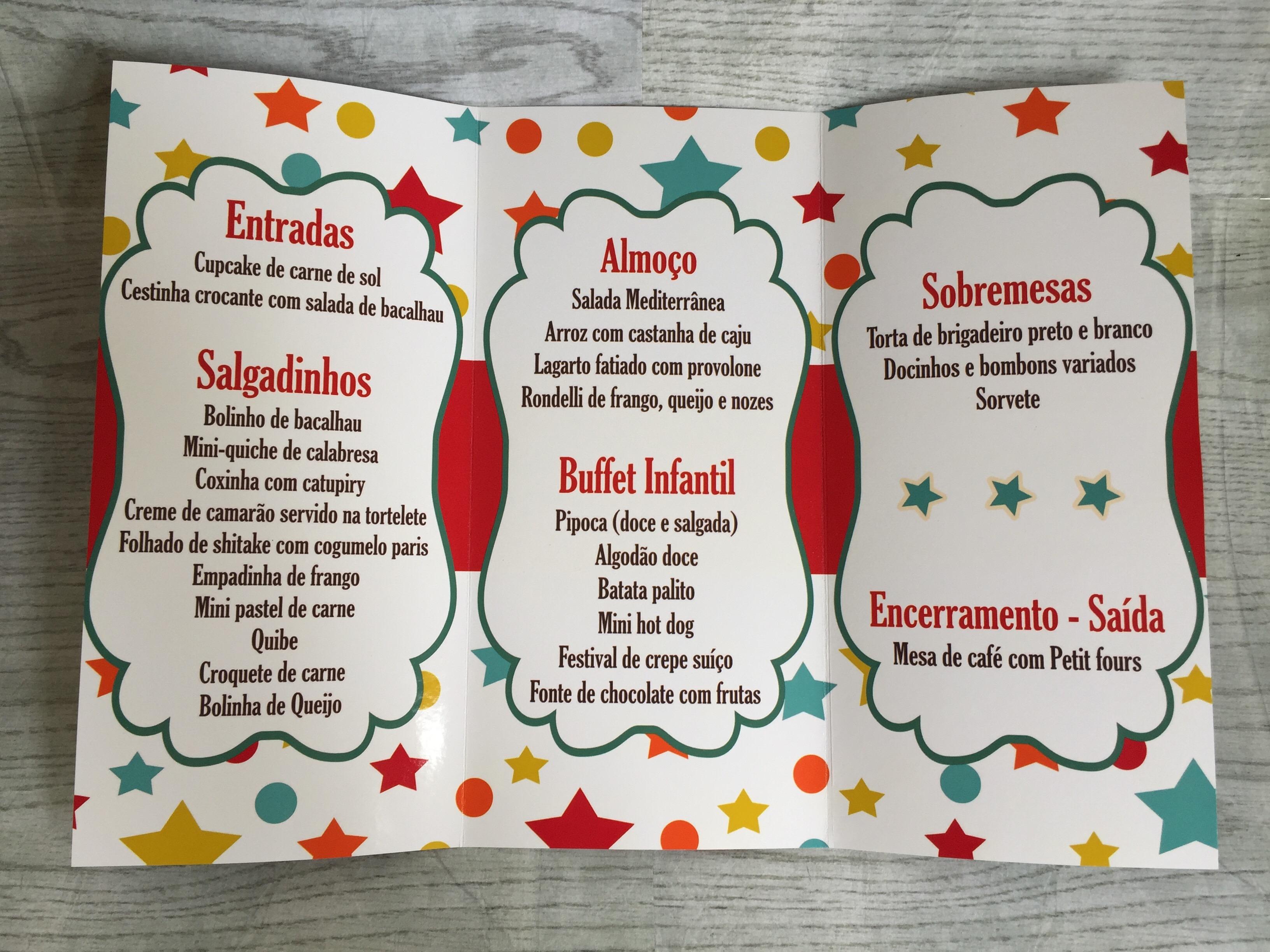 Suficiente Cardápio Personalizado Circo no Elo7 | Rec&Scrap Papelaria  DS71