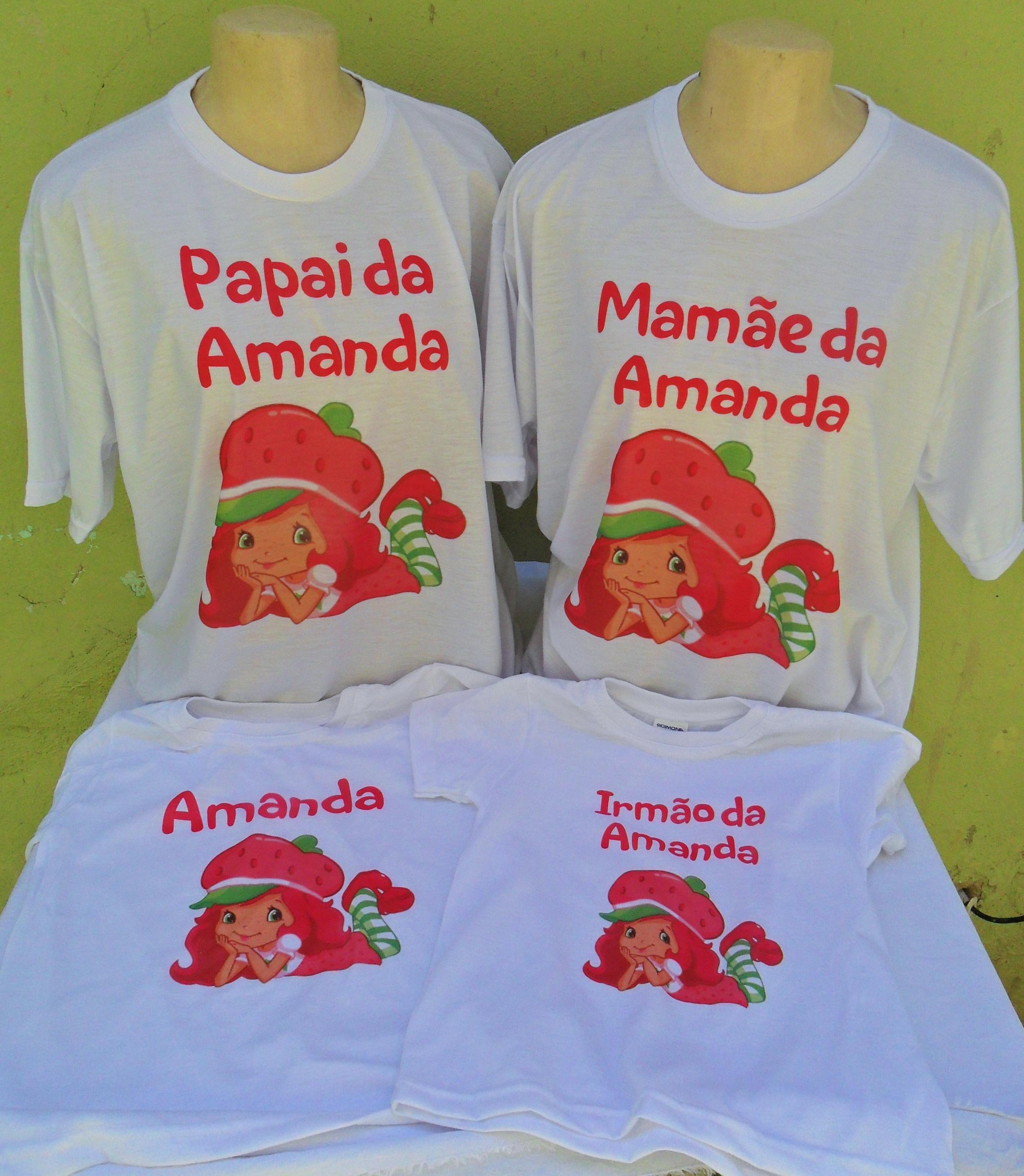 2486a5238d Camisa Personalizada Moranguinho