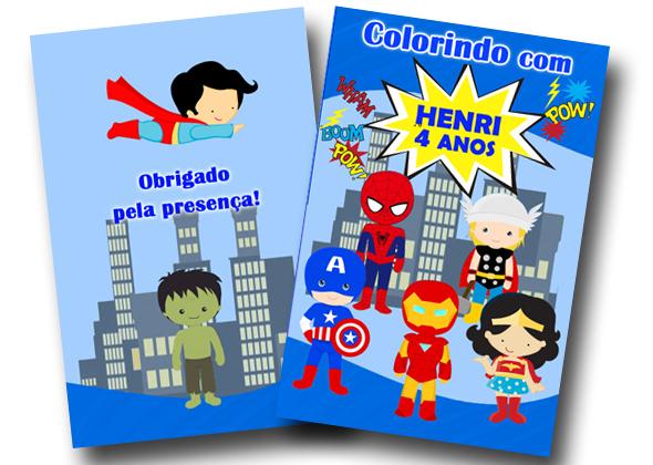 Revista Colorir Herois Vingadores 14x10