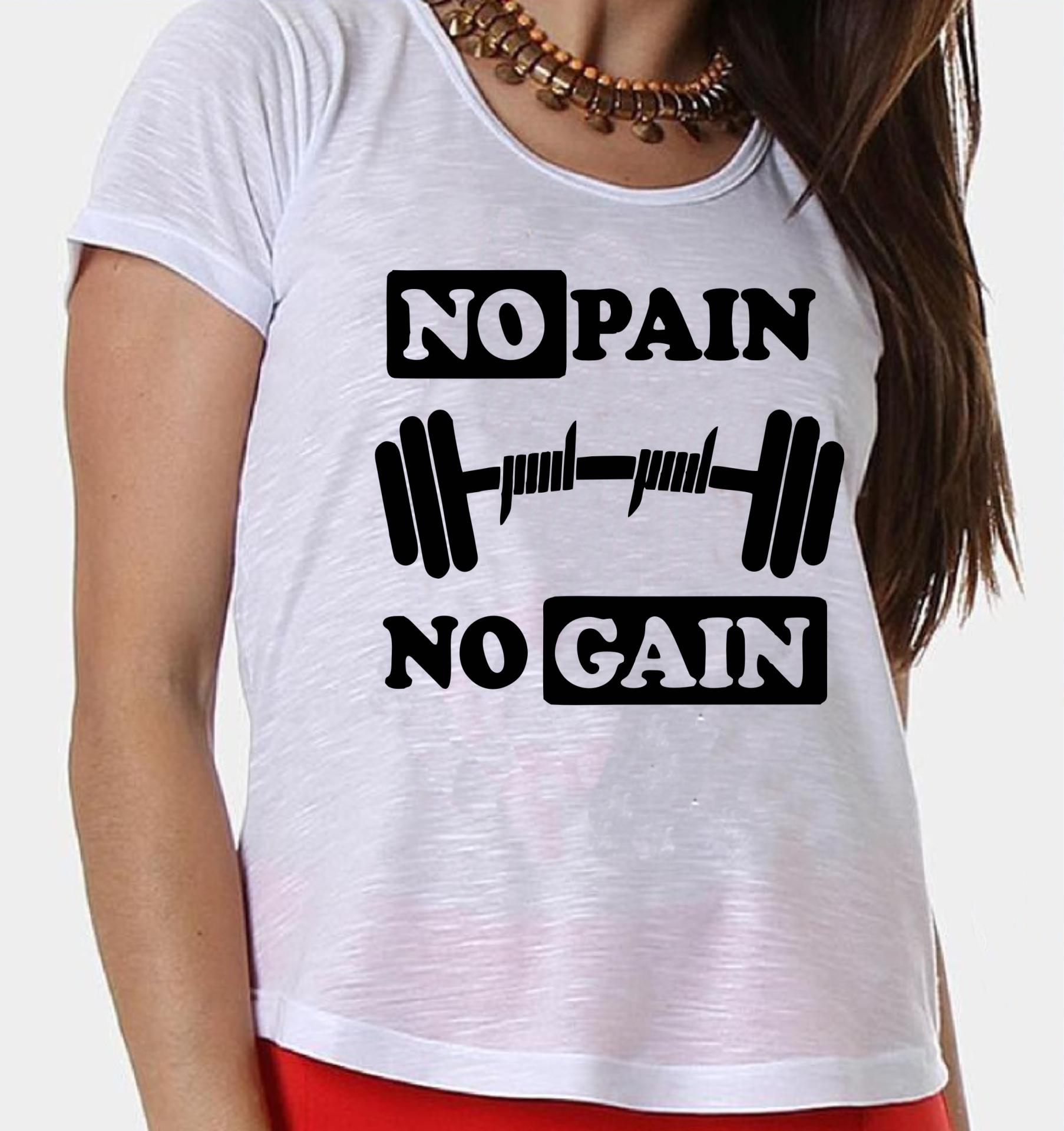 Camiseta Regata No Pain No Gain  7d09f9c4663b1