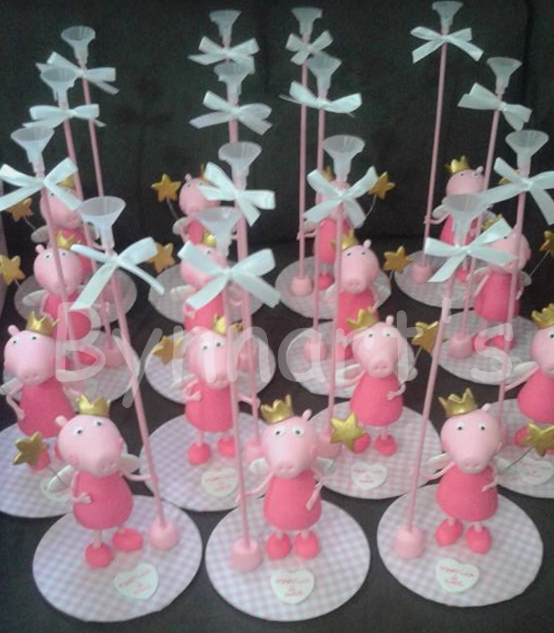 Centro mesa Peppa Pig #cumpleaños