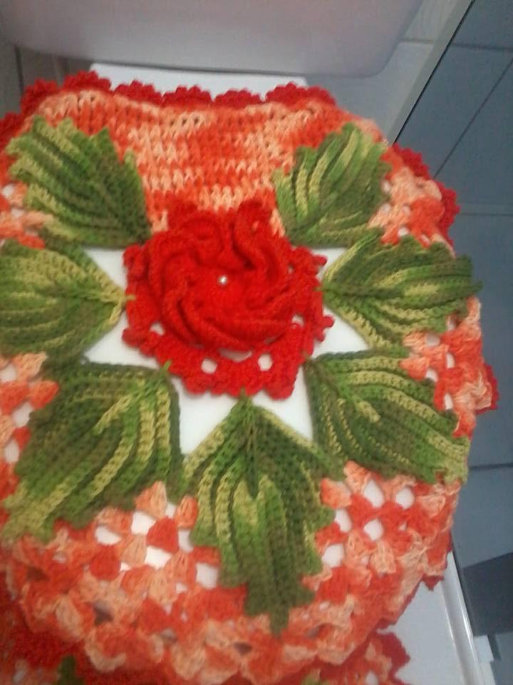 Famosos Jogo de banheiro flores e folhas no Elo7 | Cirene Menegassi Arts  OA13