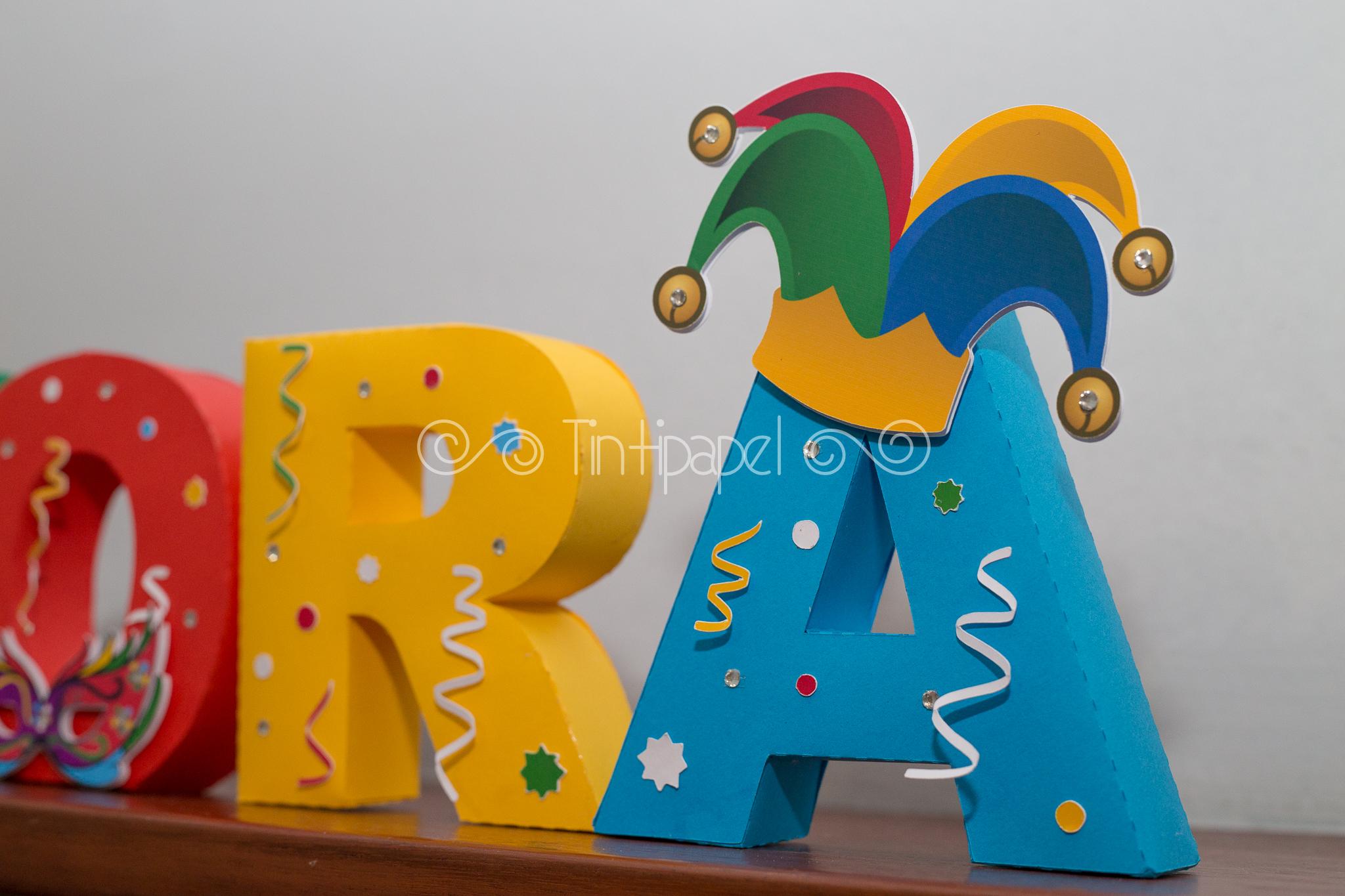 Letras 3d Carnaval Tintipapel Elo7