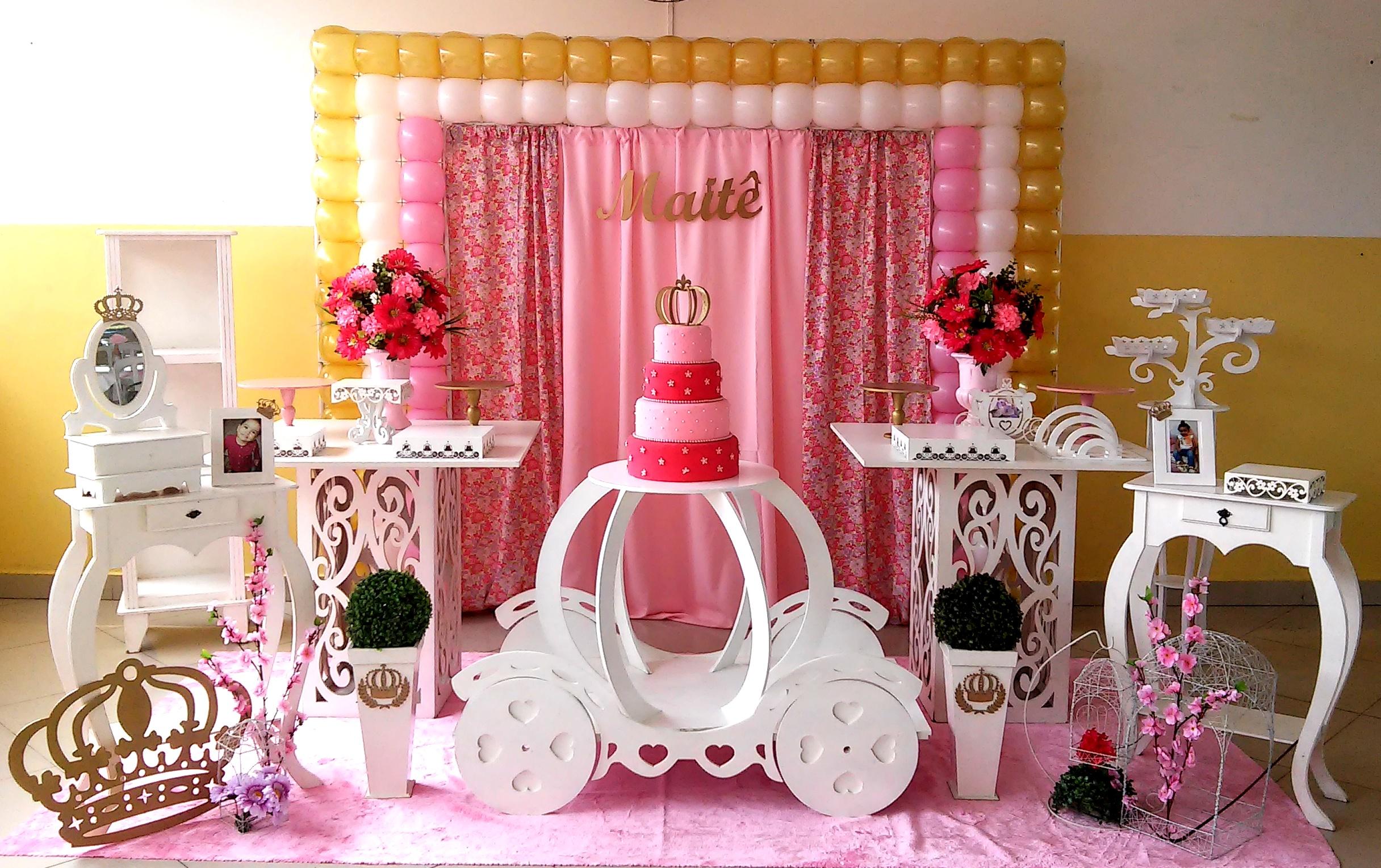 Festa Realeza Decoraç u00e3o Provençal Rede Festas Decorações Elo7 -> Decoração De Festa Infantil Realeza Luxo