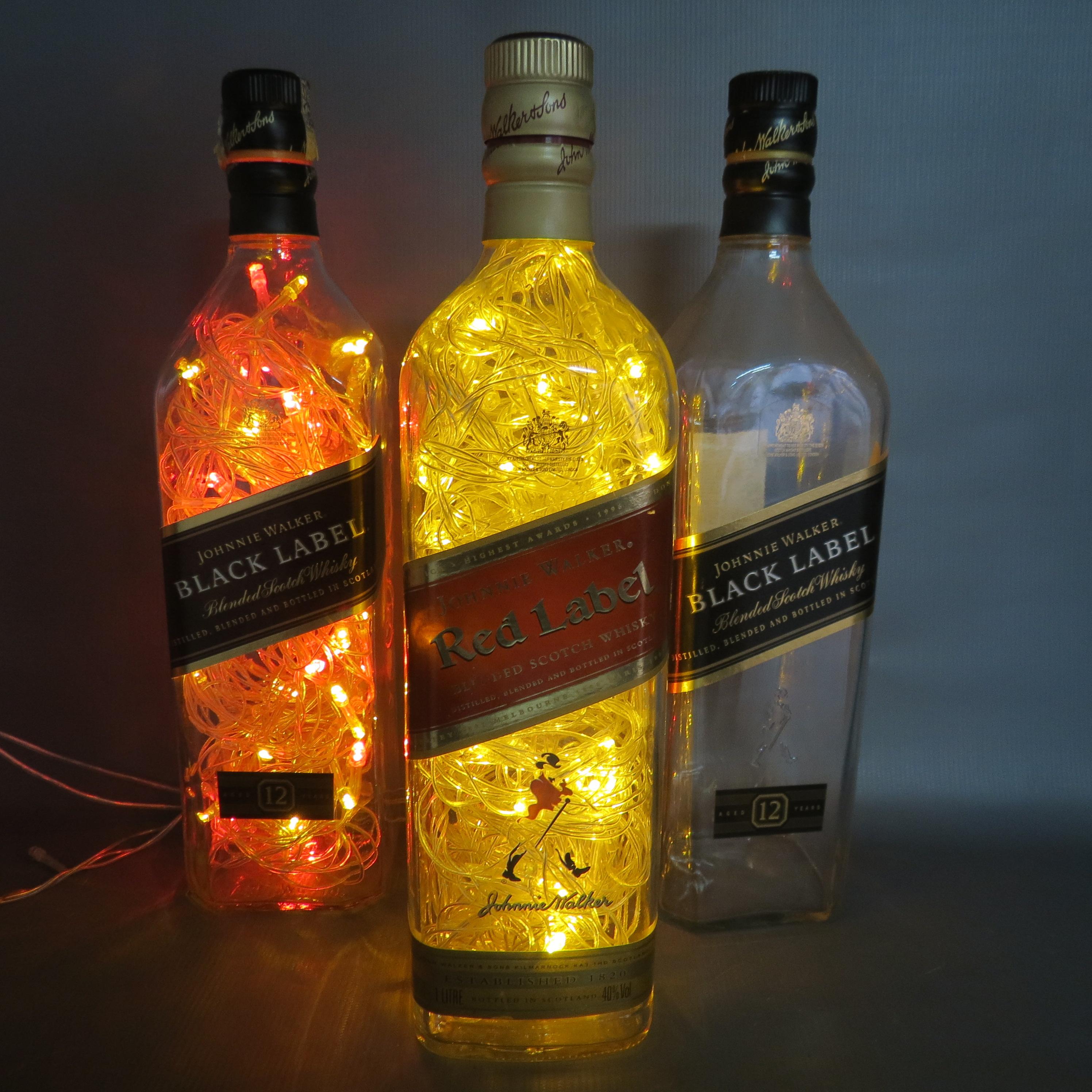 Luminária de garrafa Red Label