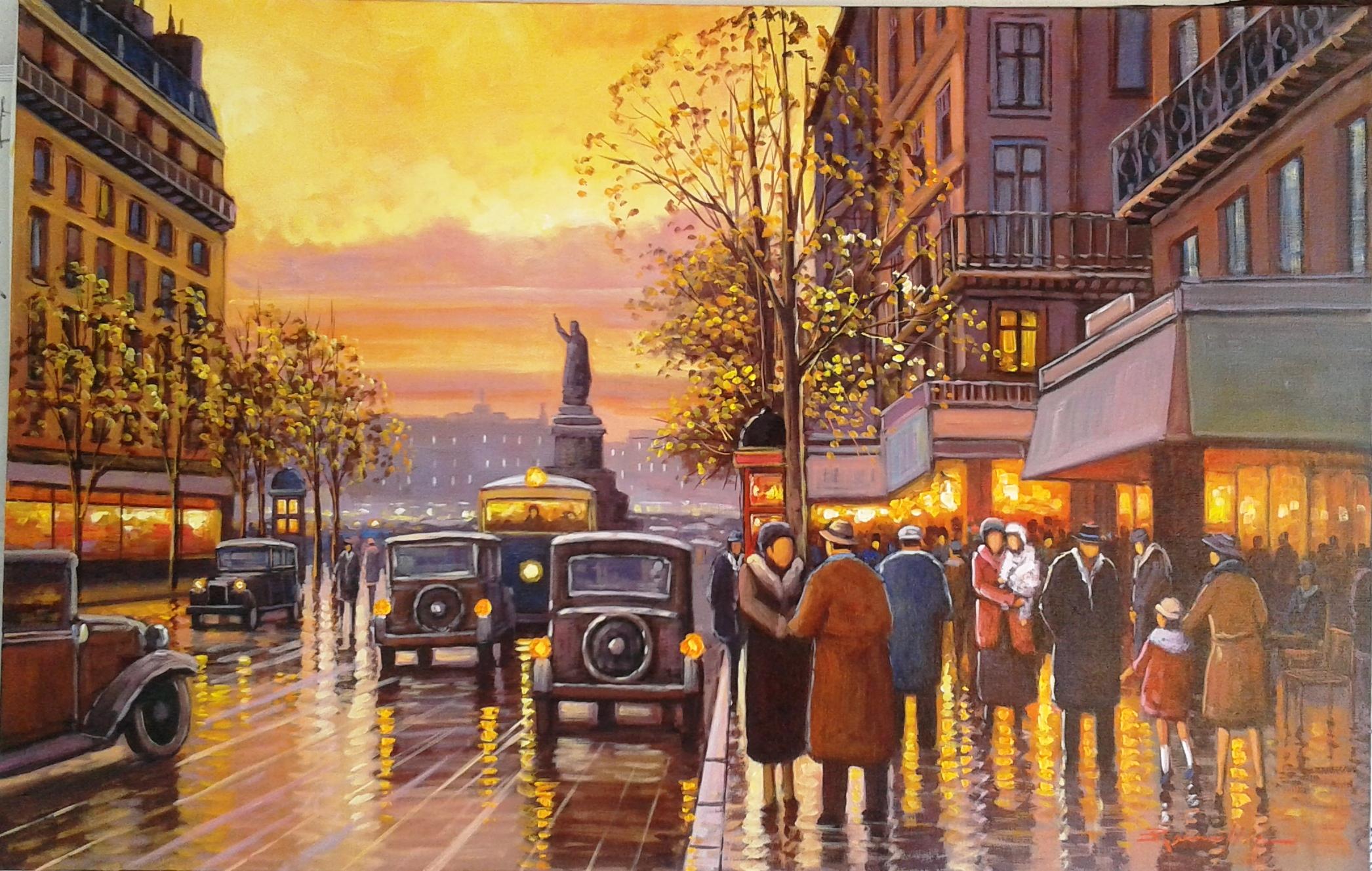 Resultado de imagem para quadros parisienses