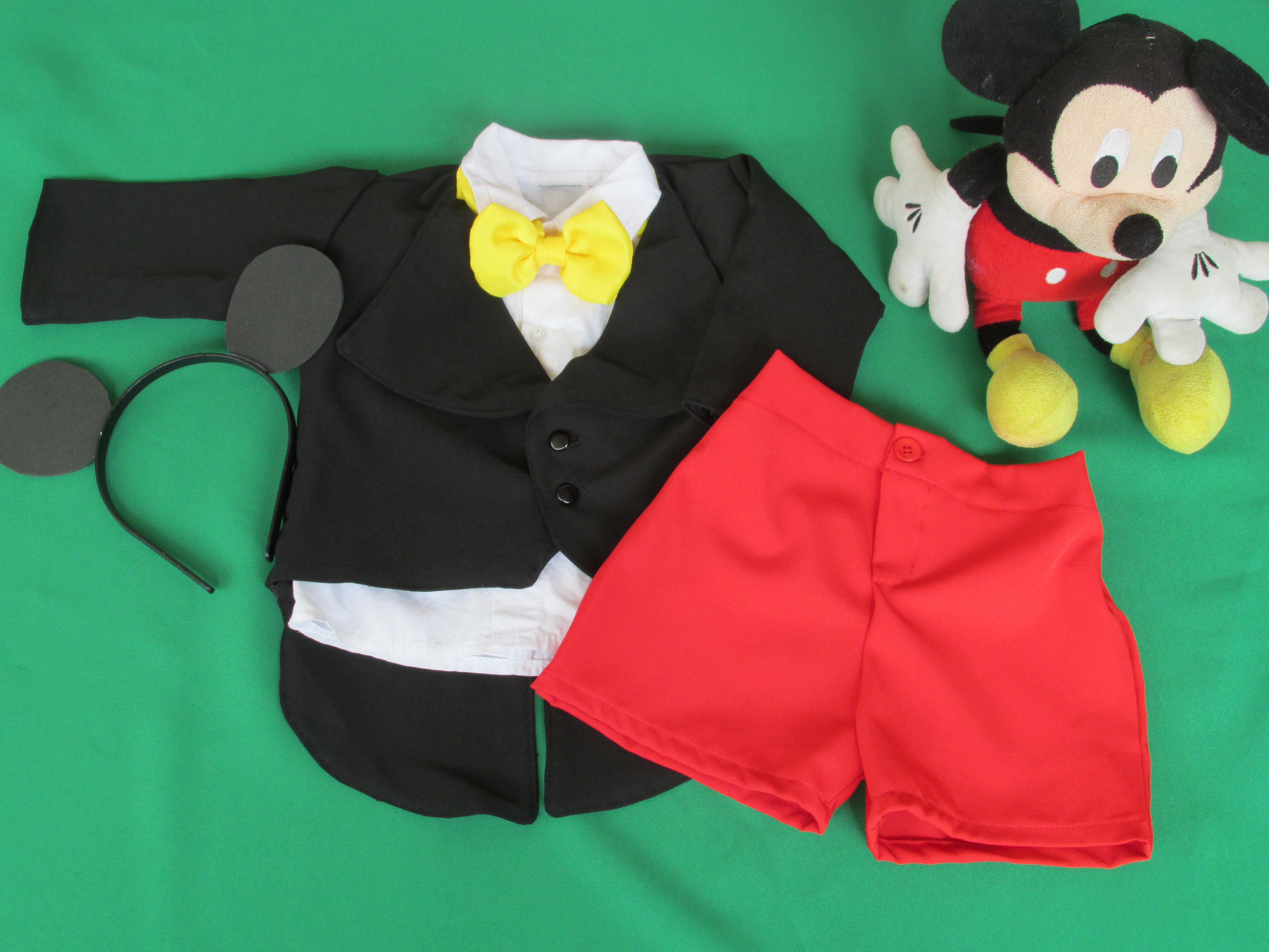 1aa689e9bee7a9 Fantasia Mickey de Luxo - 5 peças