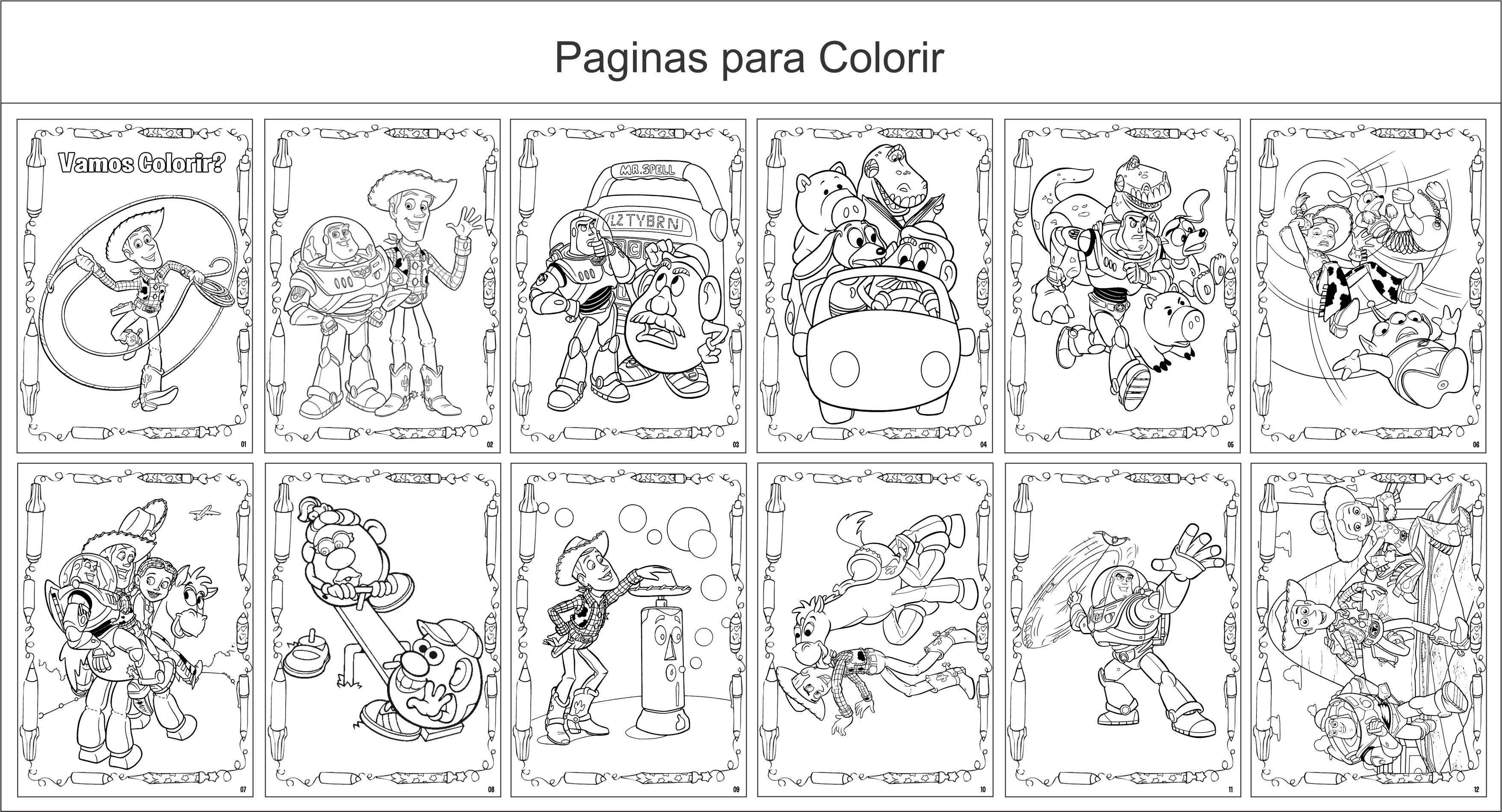 Toy Story Colorir on toy story alien coloring pages