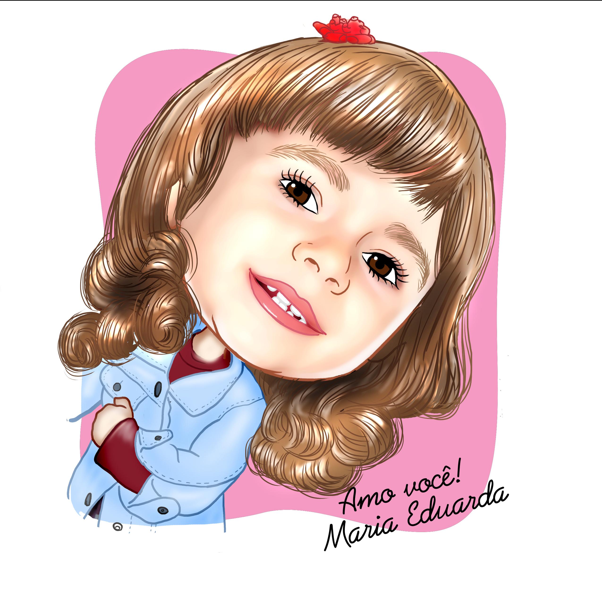 4b009e448babc2 Caricatura digital de menina -Tema criança