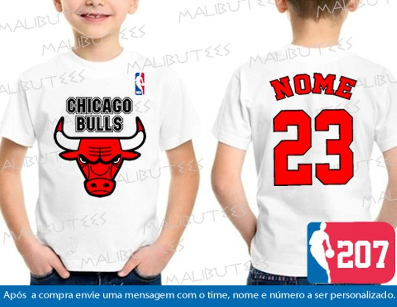 3e36744ba Camiseta Chicago Bulls Branca Infantil