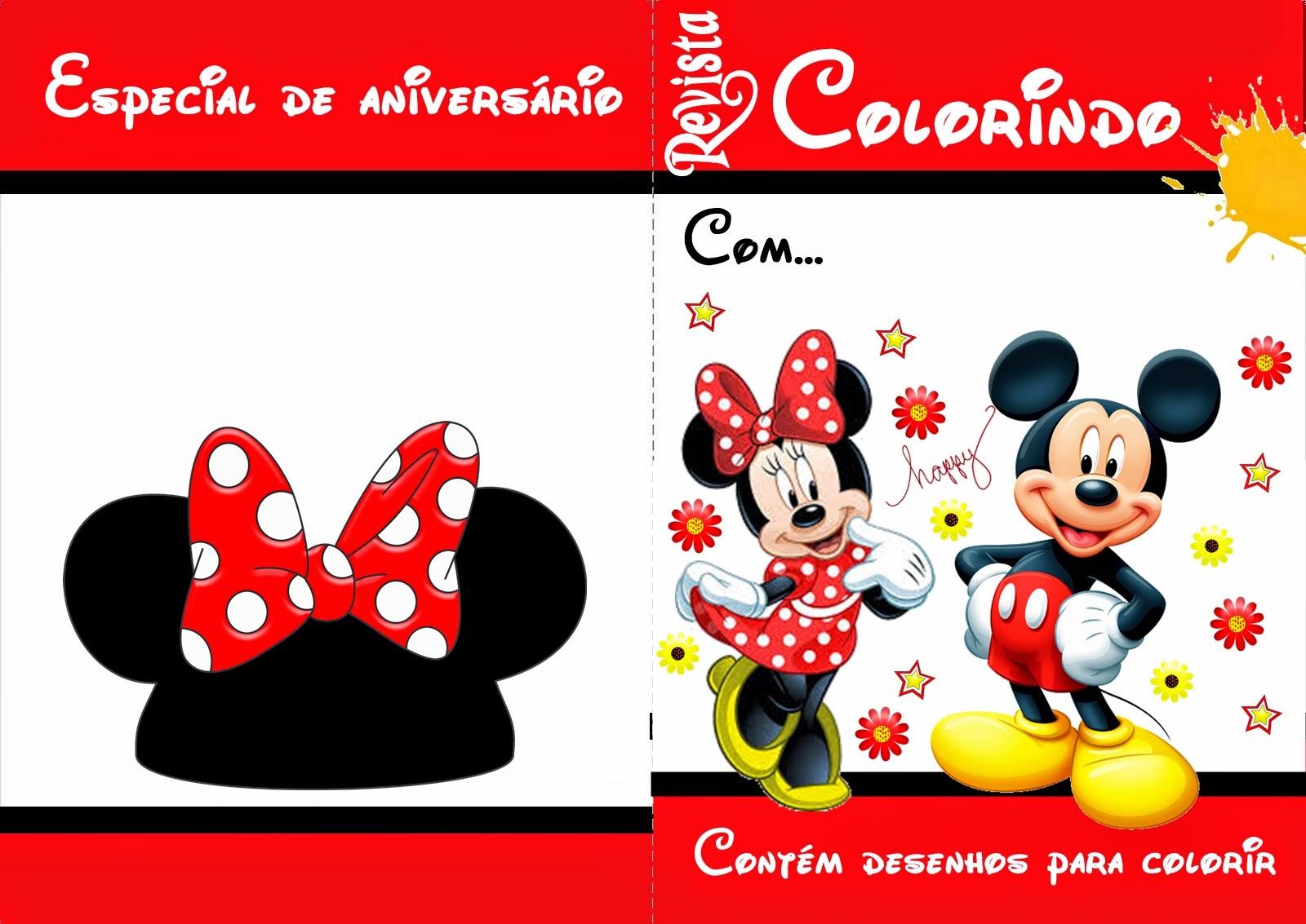 kit de colorir do mickey ou minnie no elo7 cri cri brindes 64fb41