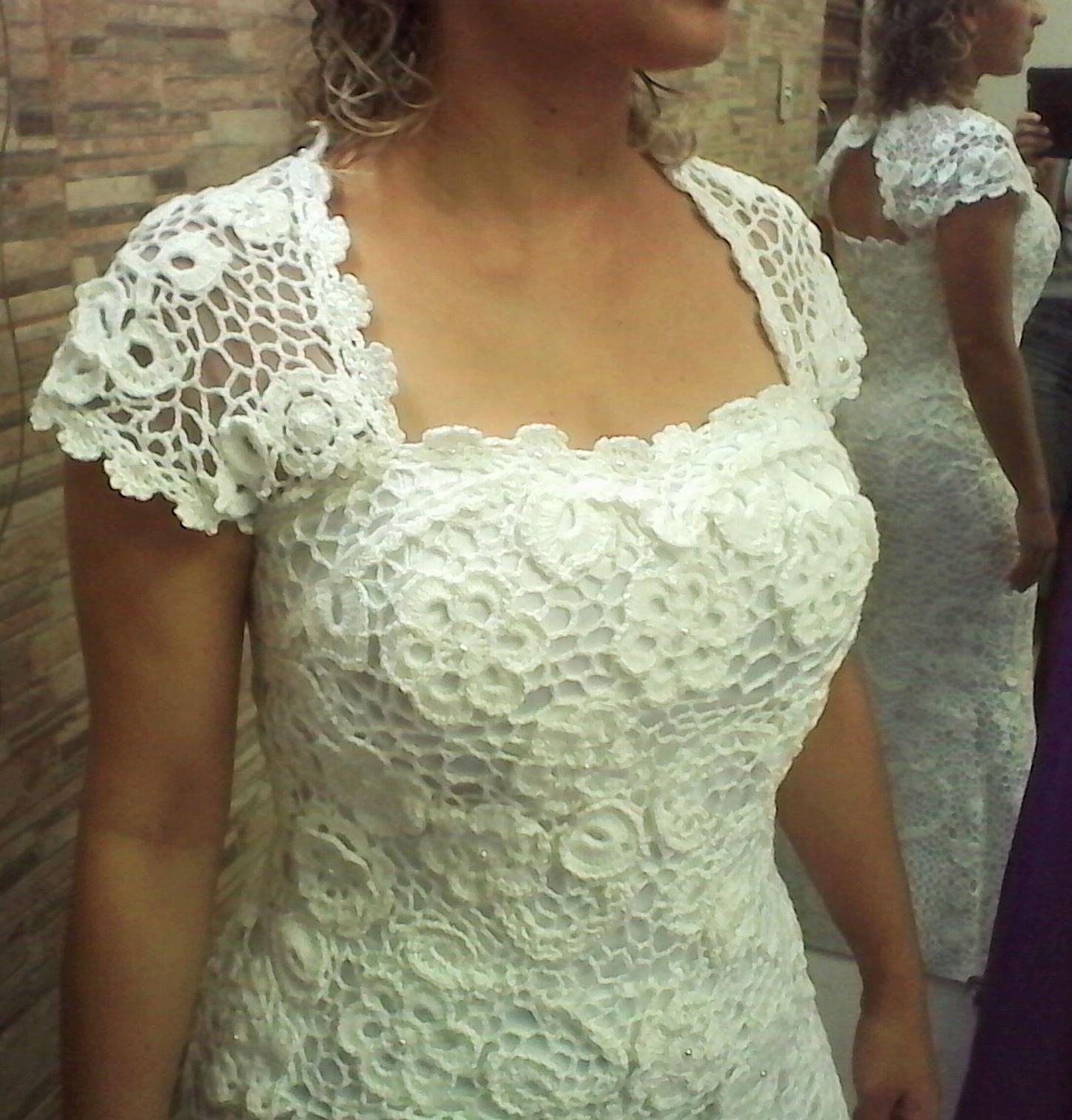 4d7e849c78e5 Vestido de Noiva em Crochê Irlandês no Elo7 | Ponto Com Artesanatos (650FE0)