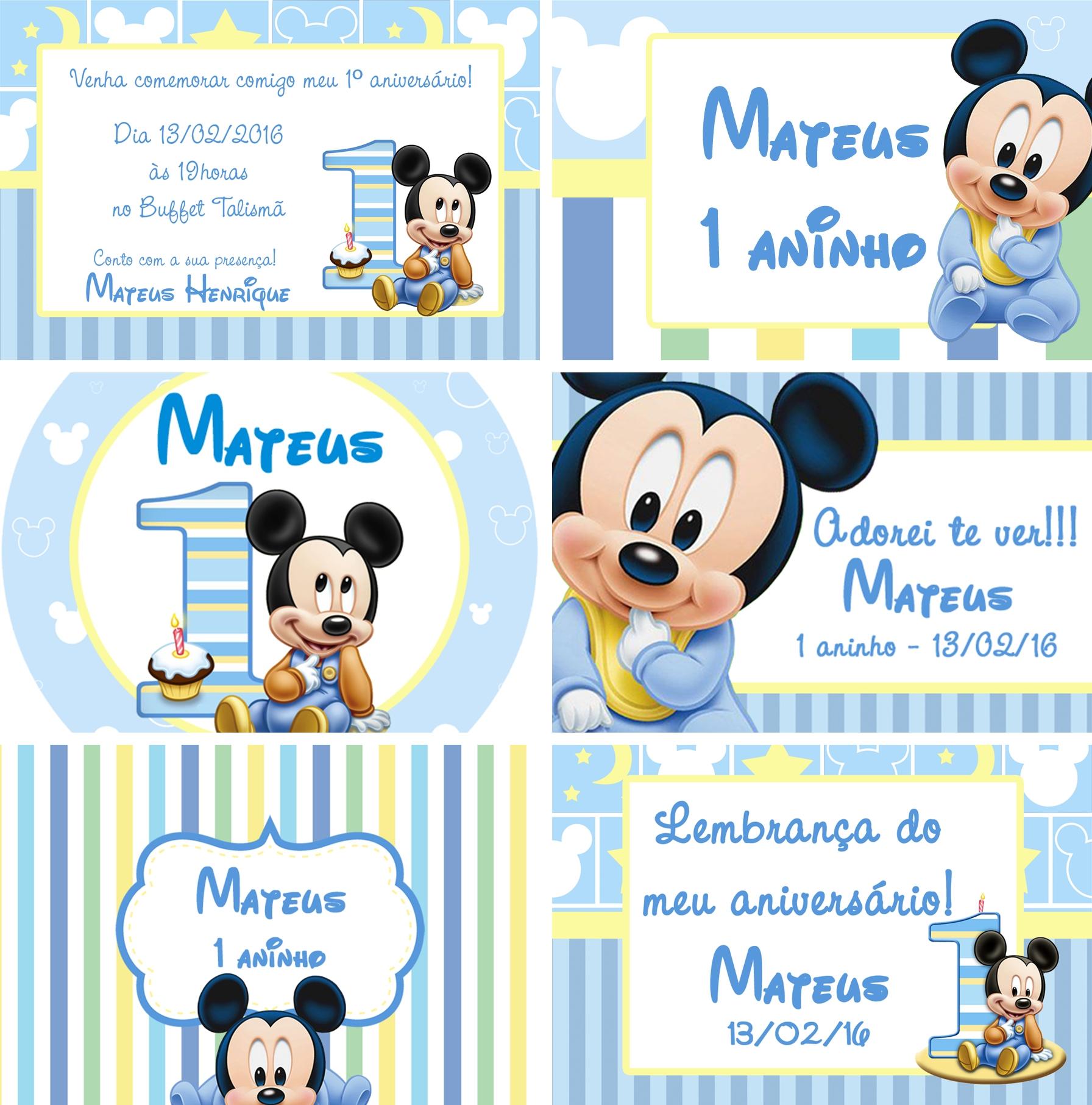 Kit Digital Mickey Baby No Elo7 Kelly Vasconcelos 652208