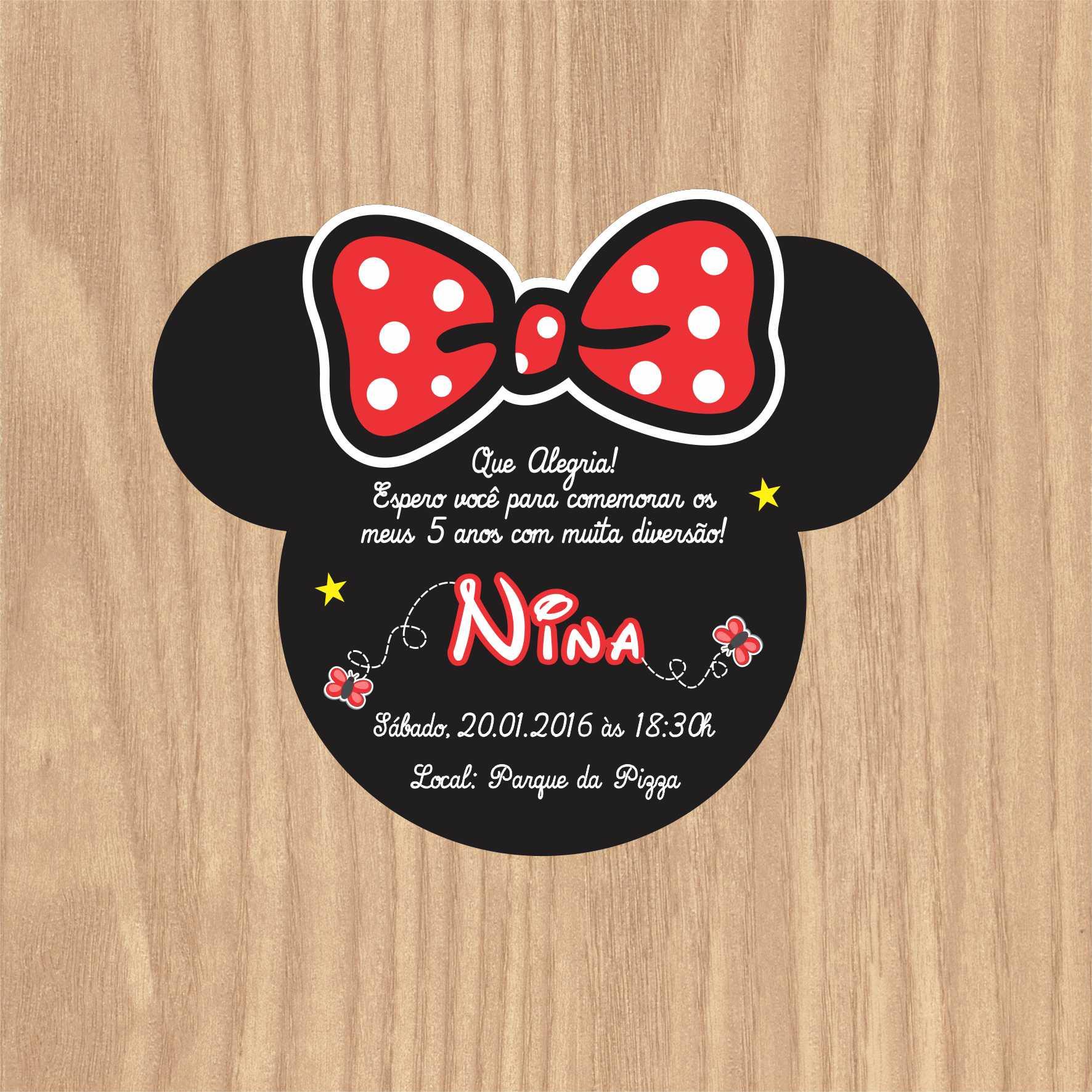 Convite Rosto Minnie Vermelha No Elo7 Arca Dos Sonhos 652857