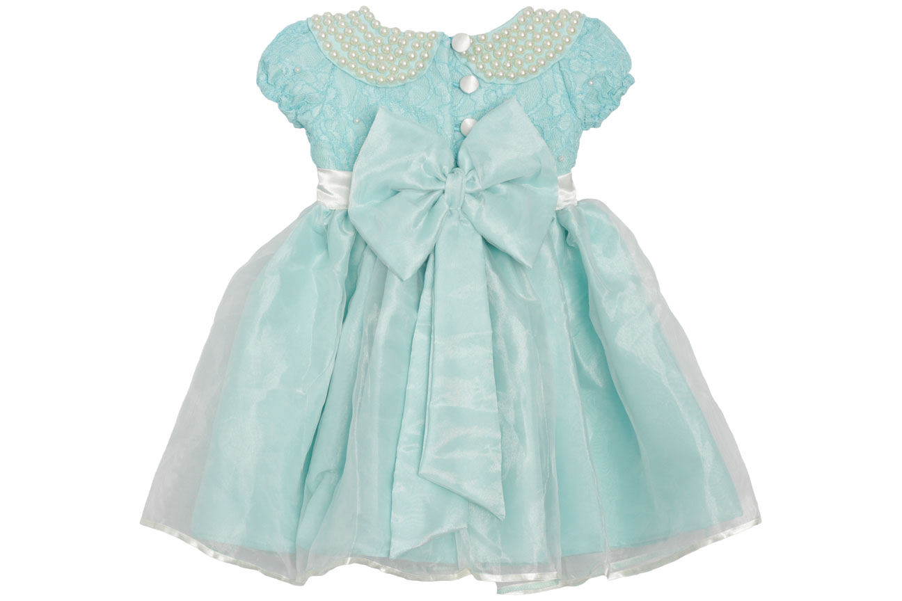 Vestido social infantil azul