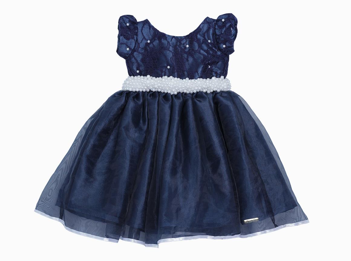 Vestido Formatura Daminha Azul Royal Elo7