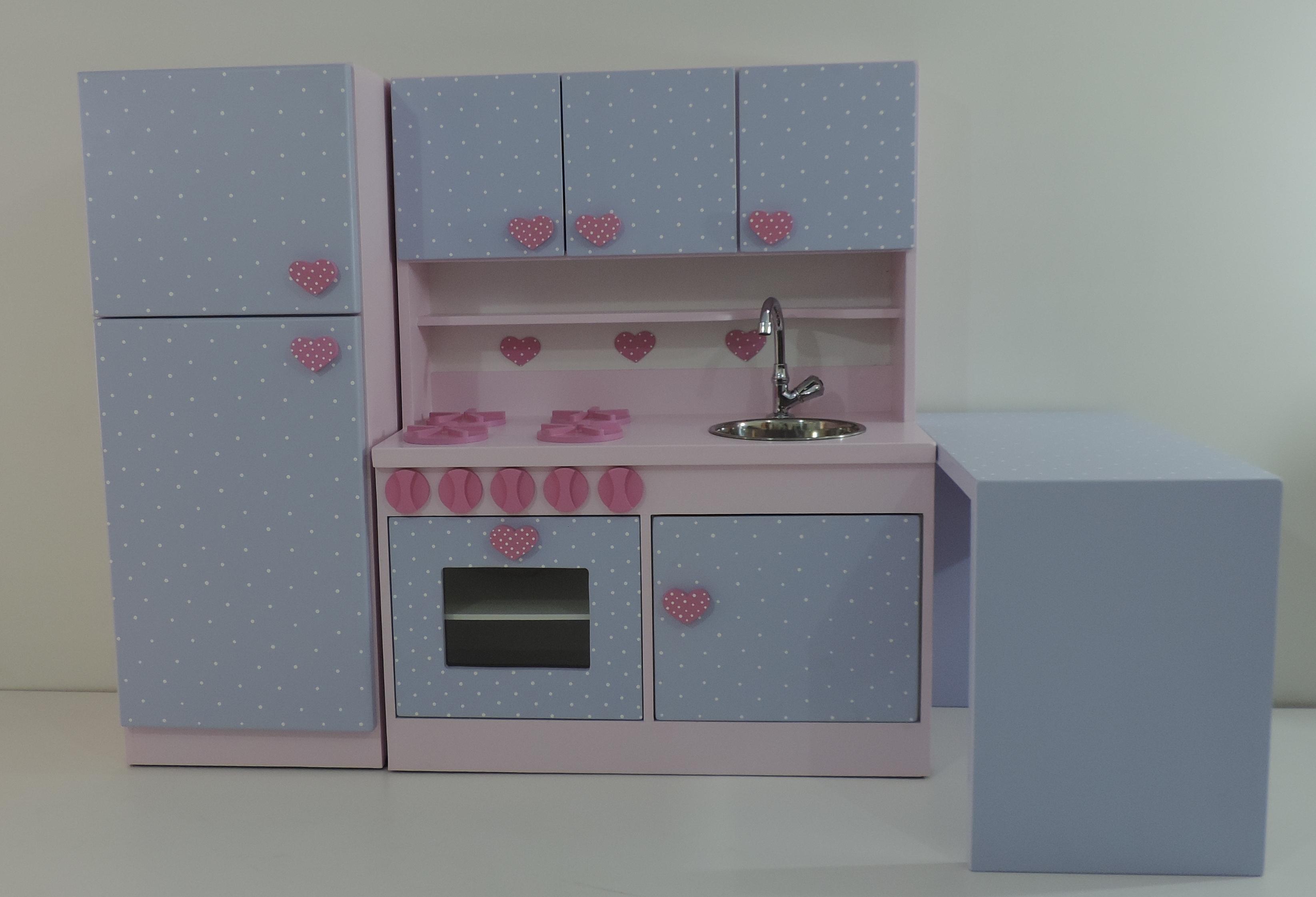 Cozinha Infantil Gaby Com Bancada No Elo7 Ateli Nelma Almeida