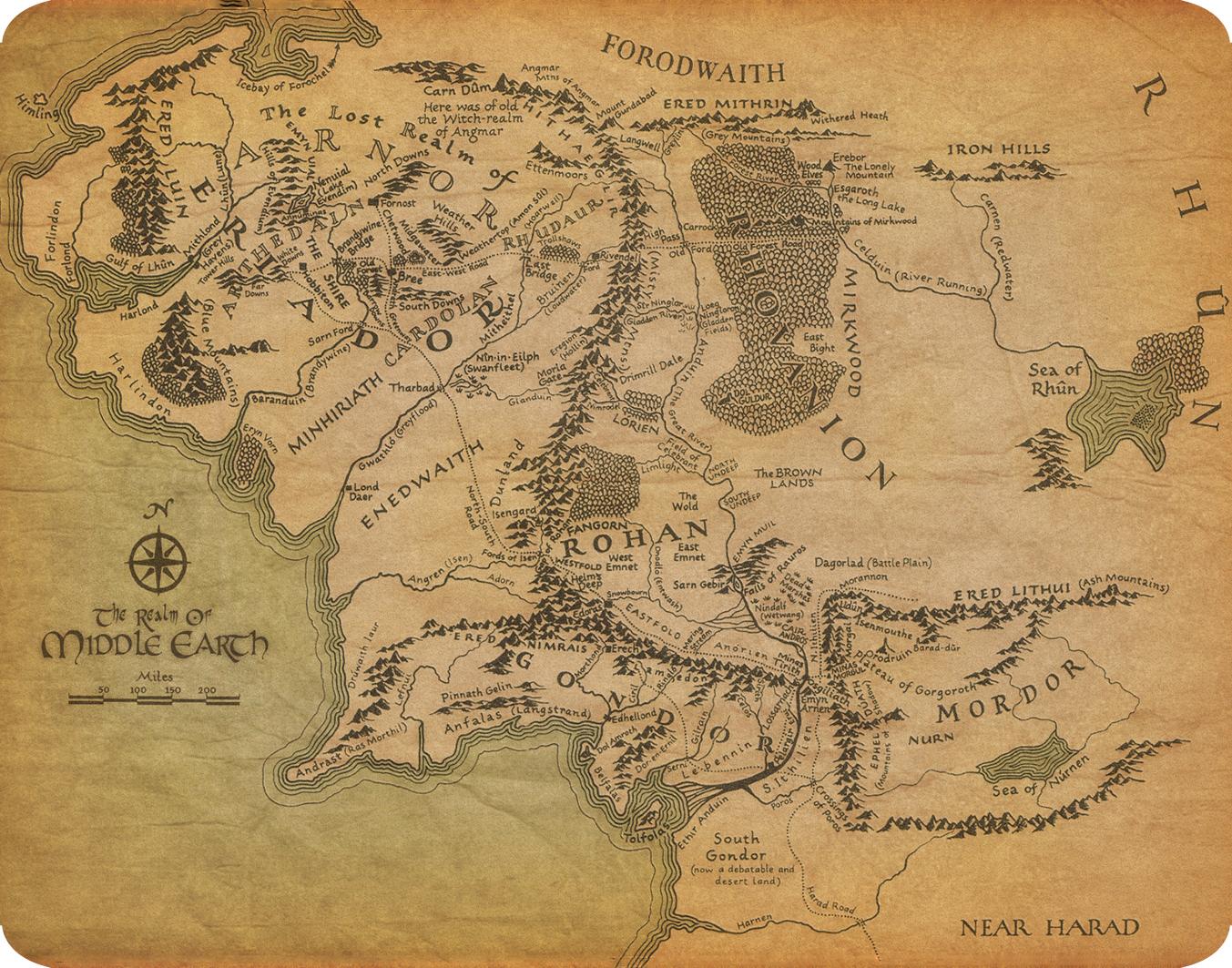 mapa senhor dos aneis Mouse pad   Mapa do Senhor dos Aneis no Elo7 | The Only   T Shirts  mapa senhor dos aneis