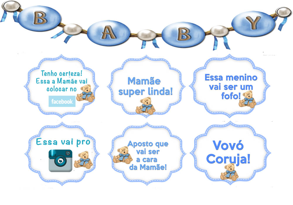 Arte P Plaquinhas Cha De Bebe Urso Azul No Elo7 Do Seu Jeitinho