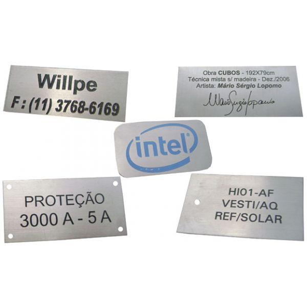 Placa de alum nio personalizada dsublimatico elo7 - Placa de aluminio ...