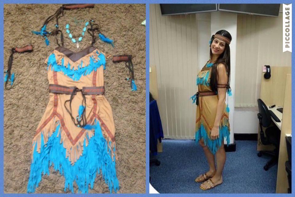 05a9dc339 Fantasia Pocahontas adulto no Elo7