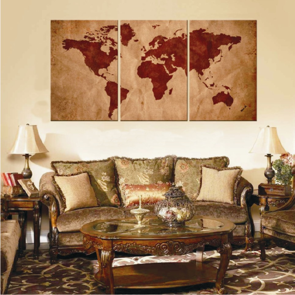 Quadro Pintura Em Tela Mapa Mundi No Elo7 Jk Galeria De Artes
