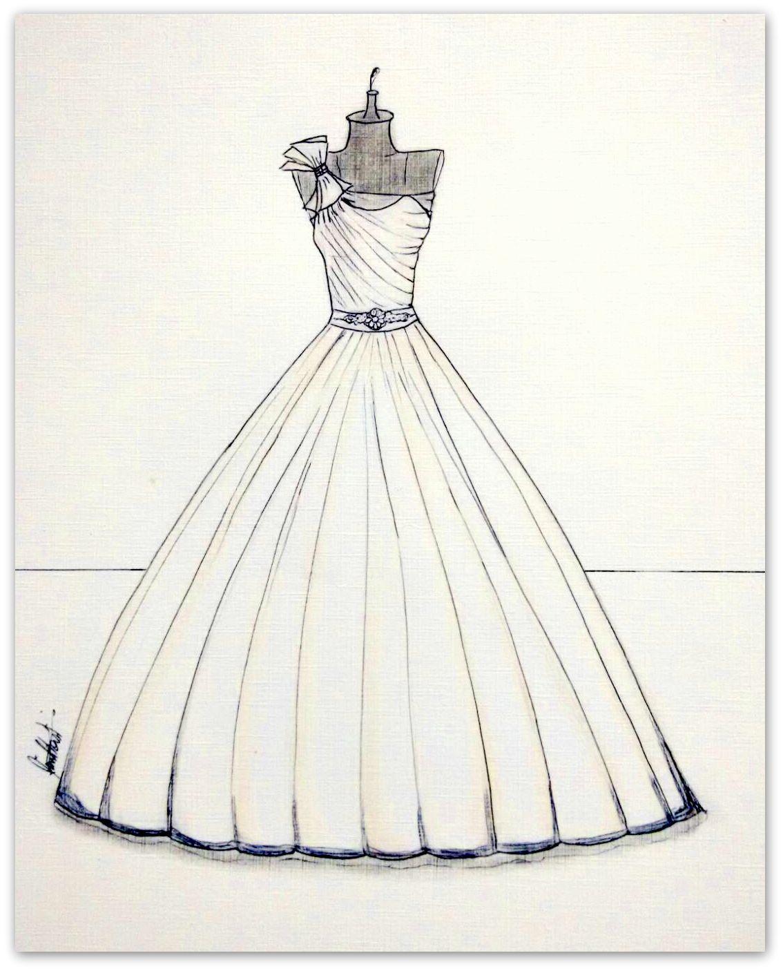Ilustracao De Vestido De Noiva No Elo7 Noiva Arte Ilustrada 65bba4