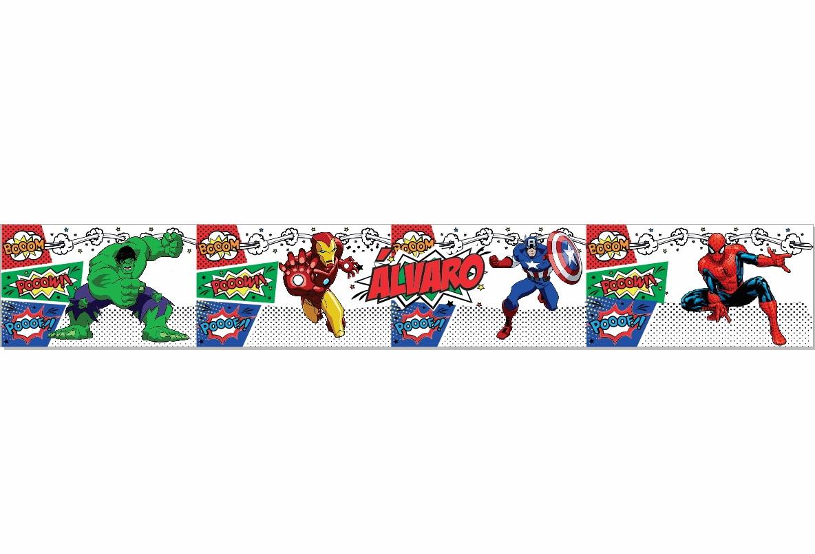 Faixa quarto super herois  Personalizados Doces Momentos  Elo7