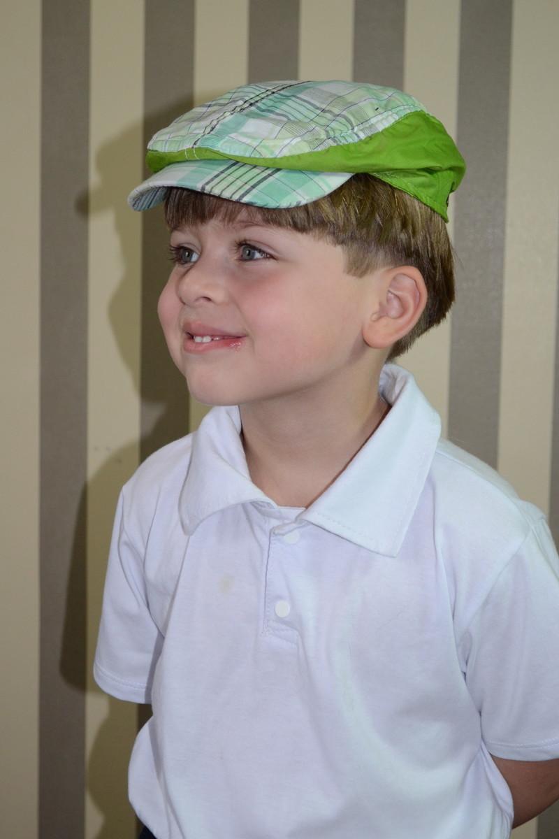 Boina Italiana Infantil Xadrez Verde no Elo7  c4f64a6b482