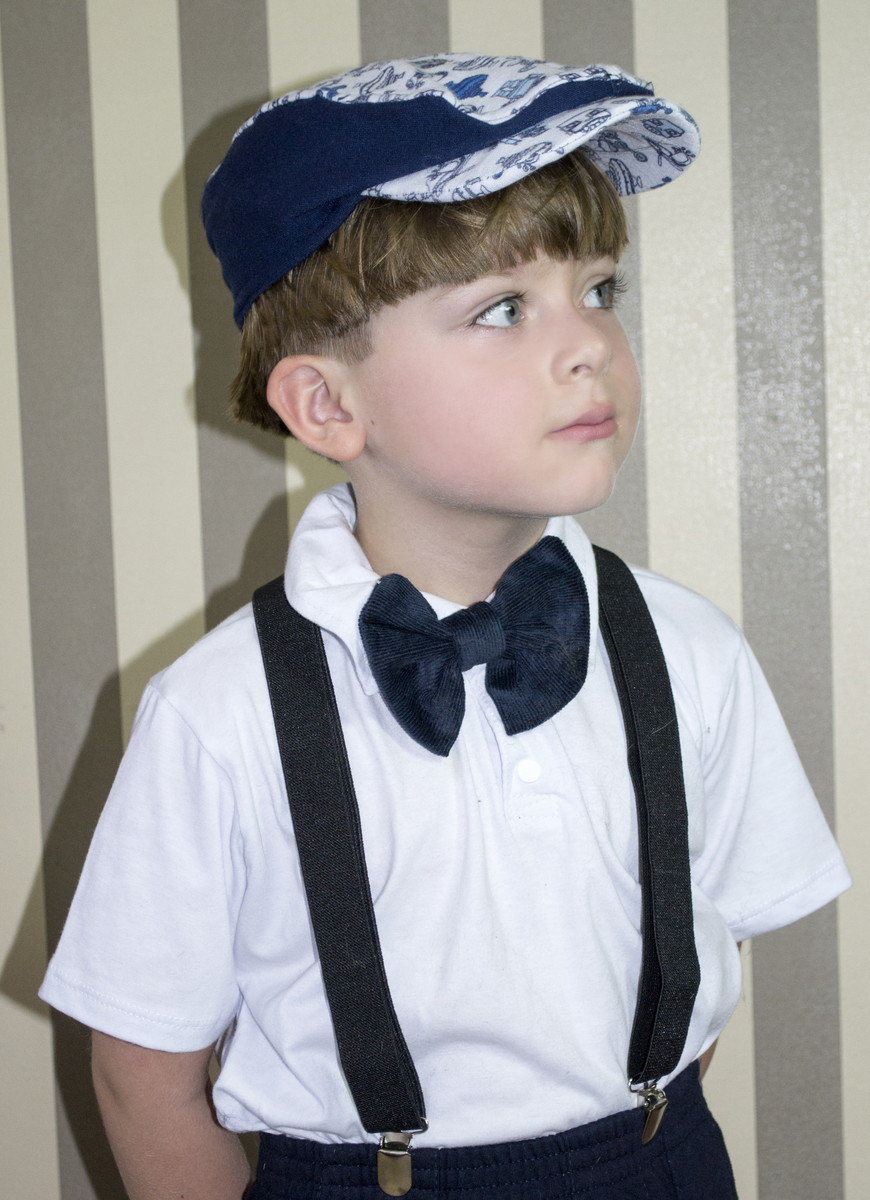 Boina Infantil Masculina Azul Estampada no Elo7  4053ce308ad