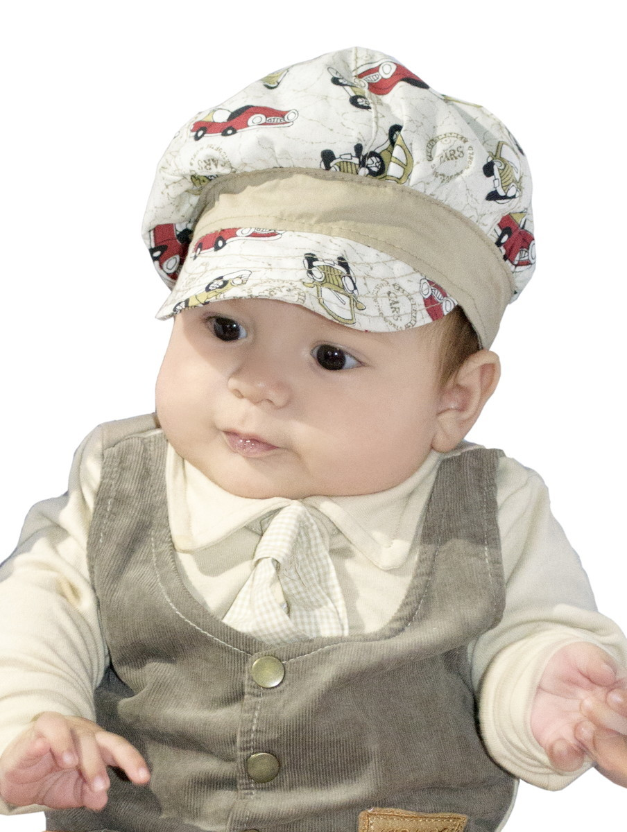 Boina Infantil Masculina Carros Bege com gravata borboleta no Elo7 ... 121856c1dc3
