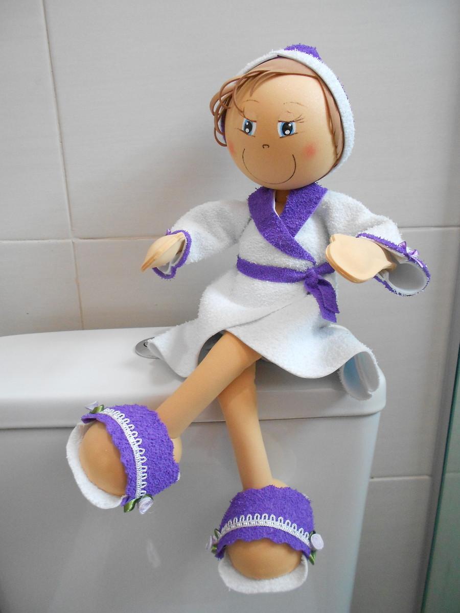 Boneca porta papel higi nico sonhos de e v a for Colgadores para papel higienico