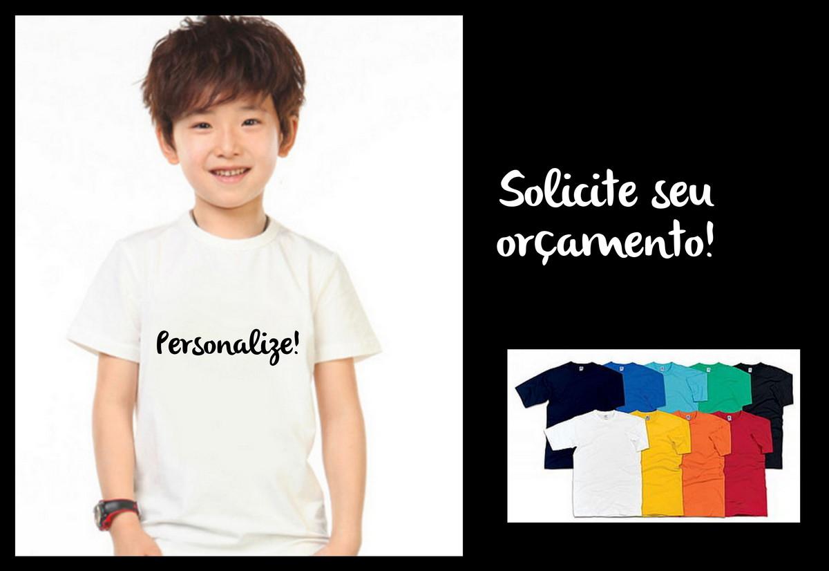 Camiseta infantil 100% algodão no Elo7  0335e021c66