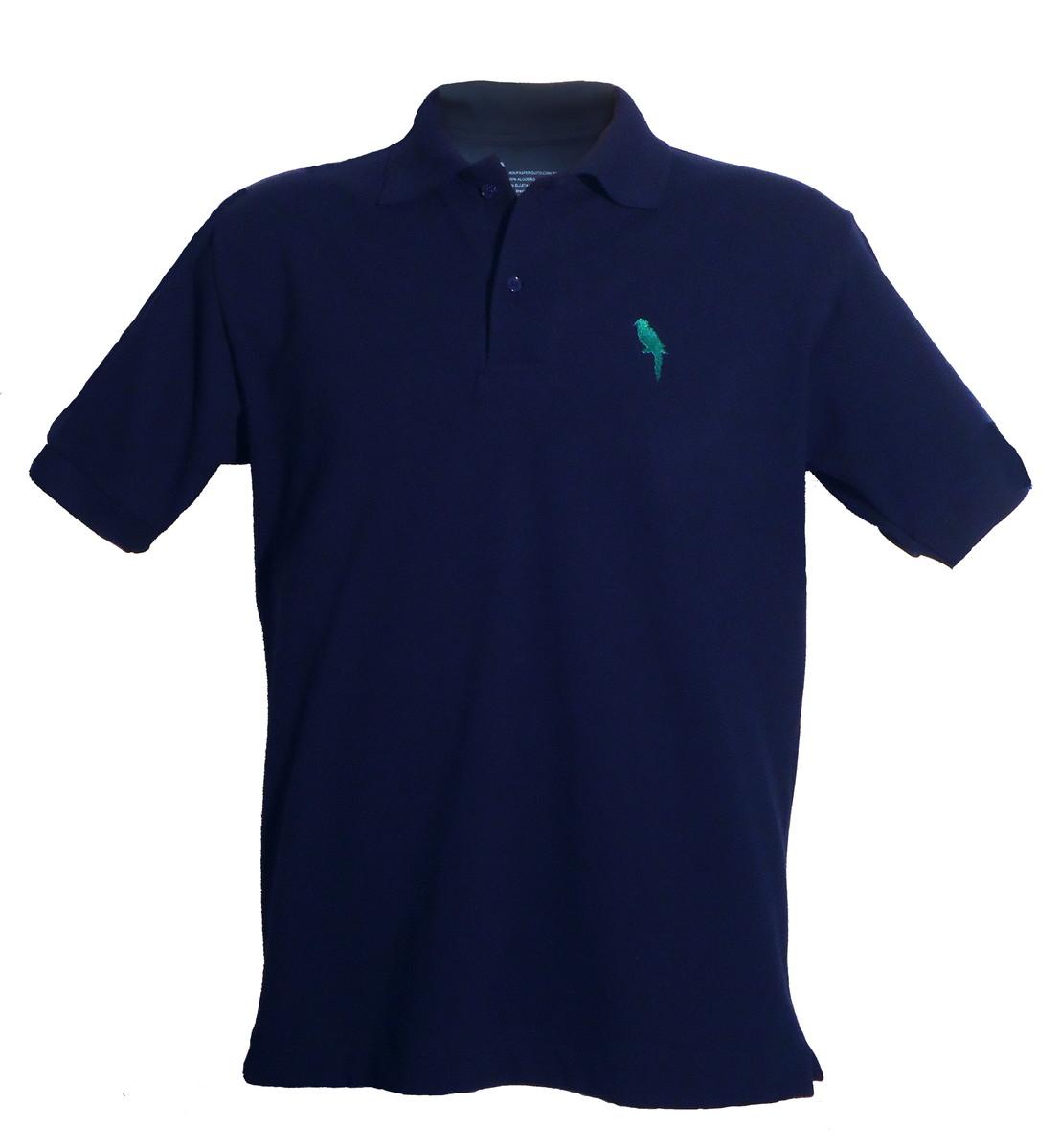 b2124e3e55 Camisa Polo Azul Marinho no Elo7
