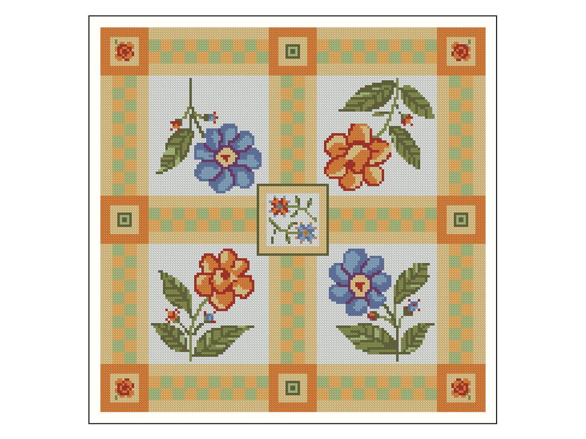 6fe60b67d Quatro Flores - Gráfico Ponto Cruz no Elo7 | Thimage - Gráficos de ...