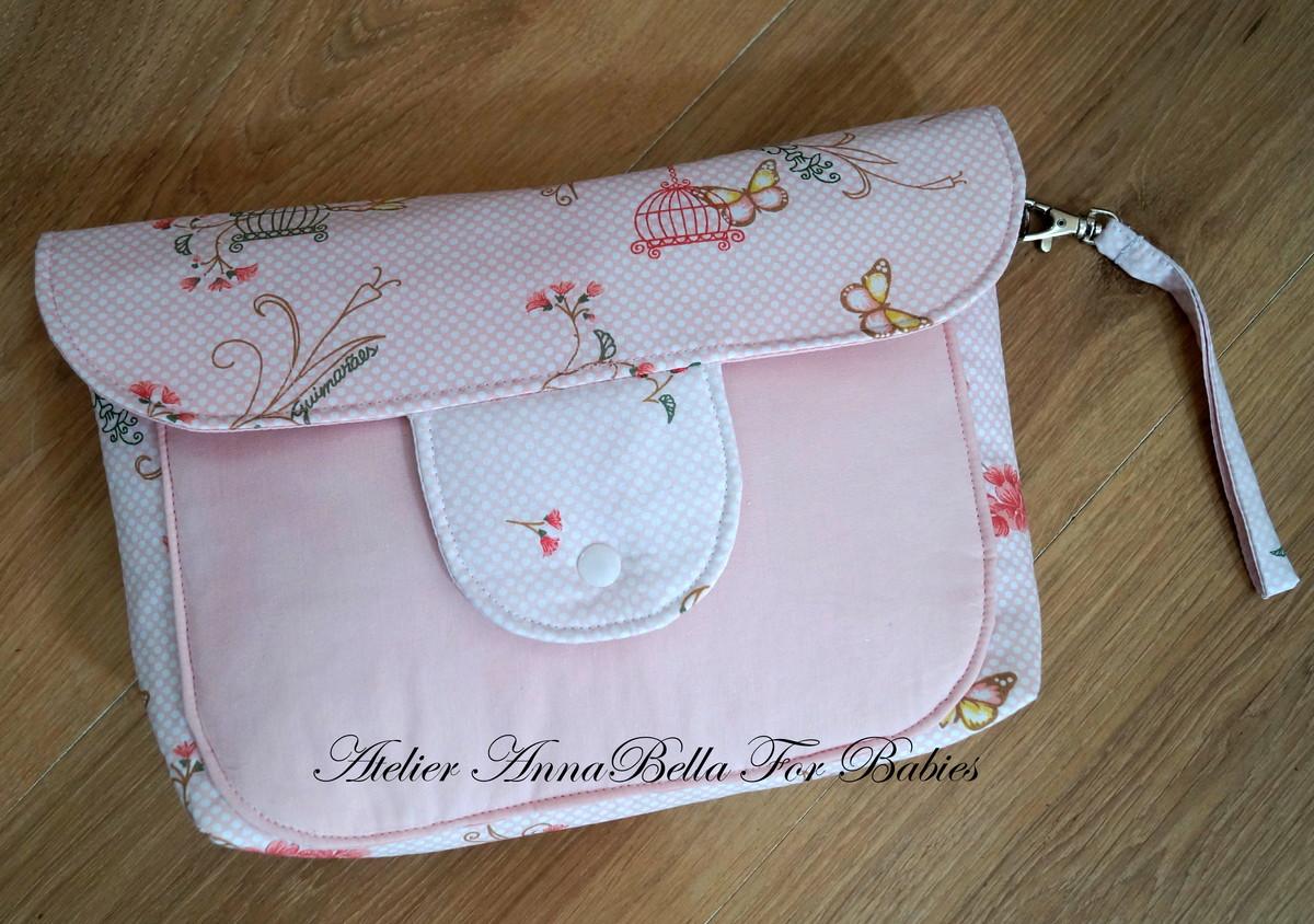 8ad60b8ea Bolsa Porta Fraldas Borboleta Rosa no Elo7 | AnnaBella For Babies ...