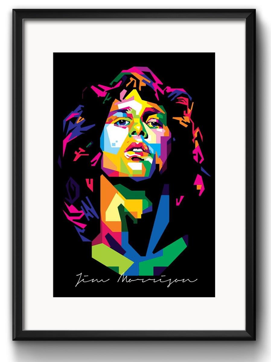 Zoom Quadro Jim Morrison Pop Art Paspatur