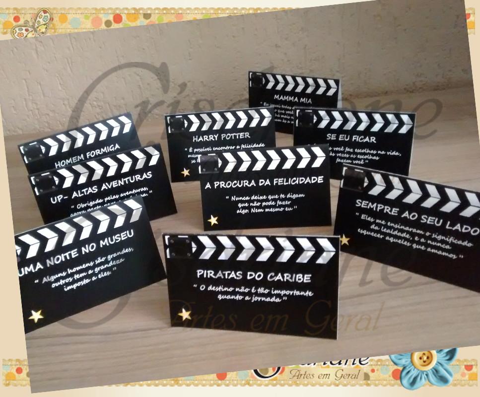Plaquinhas De Mesa Frases De Cinema No Elo7 Crisdriane Artes Em
