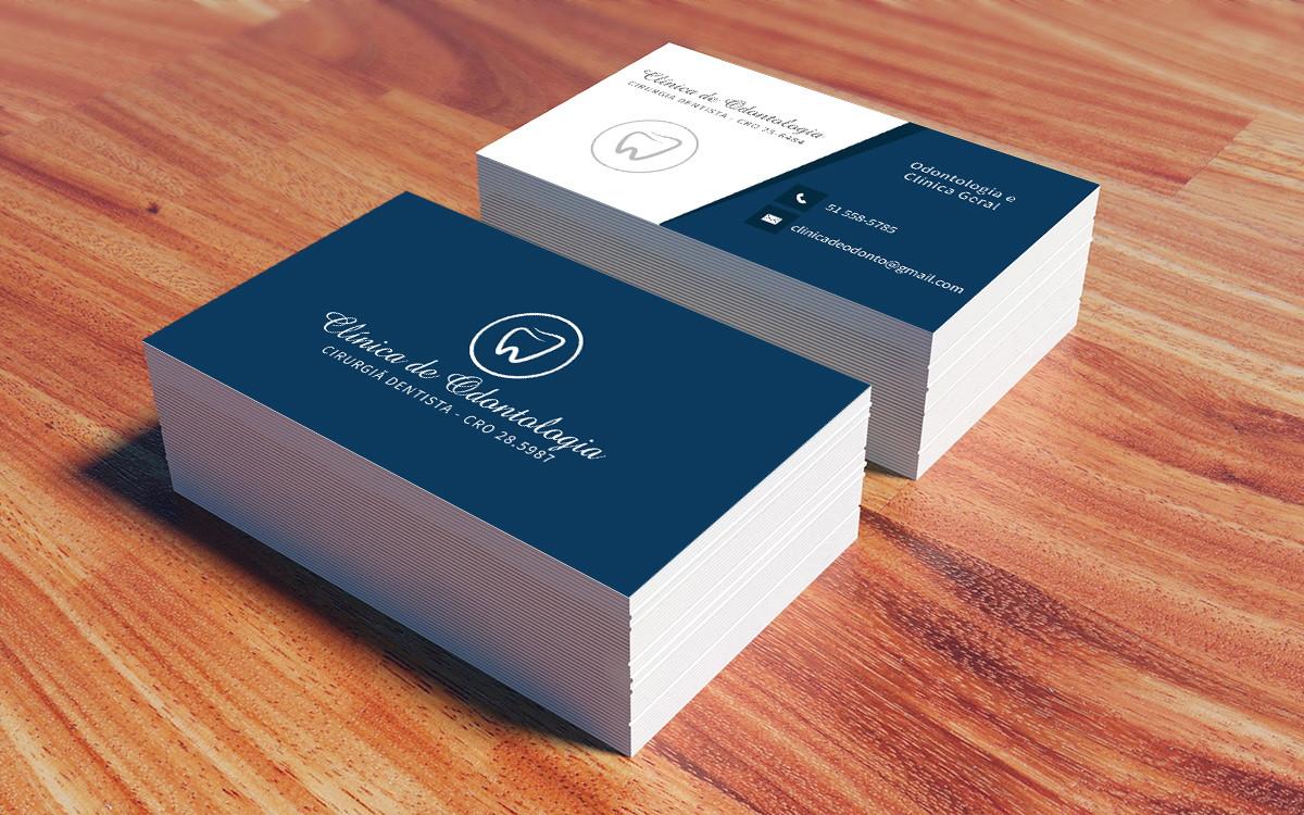 cartões de visita odontologia 500 un no elo7 pfprint 67dc17