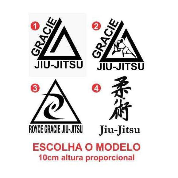 Adesivo Gracie Jiu Jitsu no Elo7  37690f425e2