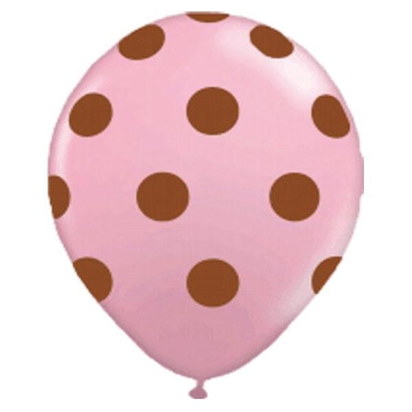 25 Bexigas Festa Rosa Bolinha Marrom Poa No Elo7 As Balloon 680e70